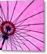 Under The Pink Umbrella Metal Print