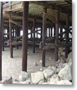 Under The Santa Barbara Pier Metal Print