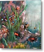 Under The Sea Colors Metal Print