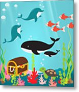 Under The Sea-jp2988 Metal Print