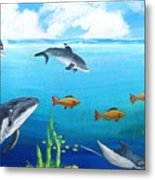 Under The Sea Metal Print