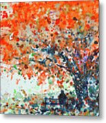 Under The Shade Of The Flamboyant Metal Print