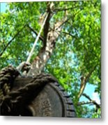 Under The Tire Swing Metal Print