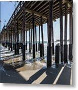 Under The Ventura Pier In Southern California Metal Print