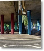 Under The Viaduct A Panoramic Urban View Metal Print