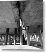 Under The Viaduct A Urban View Metal Print