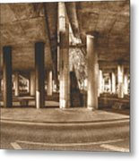Under The Viaduct B Panoramic Urban View Metal Print