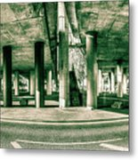 Under The Viaduct C Panoramic Urban View Metal Print