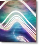 Under The Wave Metal Print