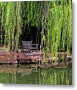 Under The Willows 7749 Metal Print