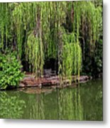 Under The Willows 7758 Metal Print