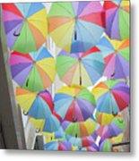 Under Umbrellas Metal Print
