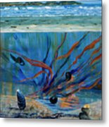 Under Water - Point Of View Metal Print