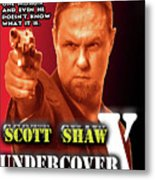 Undercover X Metal Print by The Scott Shaw Poster Gallery