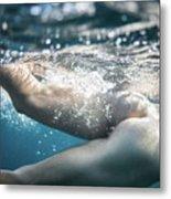 Underwater Ass Metal Print