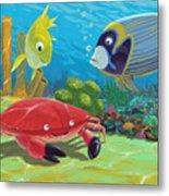 Underwater Sea Friends Metal Print