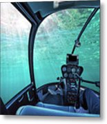 Underwater Ship Blue Ocean Metal Print