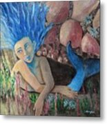 Underwater Wondering Metal Print