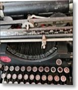 Underwood Typewriter Metal Print