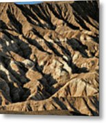 Unearthly World - Death Valley's Badlands Metal Print