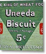 Uneeda Biscuit Vintage Sign Metal Print