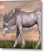 Unicorn And Chipmunk Metal Print