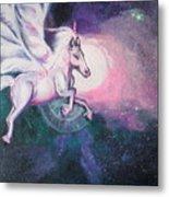 Unicorn And The Universe Metal Print