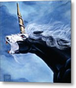 Unicorn Fury Metal Print