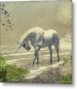Unicorn Moon Metal Print