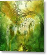 Unicorn Of The Forest  Metal Print