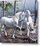 Unicorn Reunion Metal Print