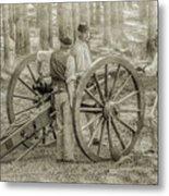 Union Cannon Civil War Sepia Version Metal Print