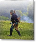 Union Cavalryman On Foot Metal Print