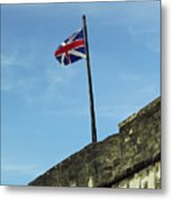 Union Jack Over The Castillo Metal Print
