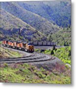 Union Pacific Coal Train In Kyune Utah Metal Print