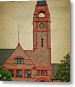 Union Pacific Railroad Depot Cheyenne Wyoming 01 Textured Metal Print