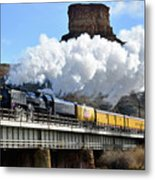 Union Pacific Steam Engine 844 And Castle Rock Metal Print
