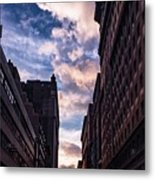 Dusk Over A Union Square Coffee Metal Print