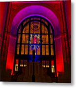 Union Station Decked Out For The Holidays Metal Print