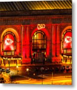 Union Station In Chiefs Red Metal Print