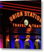 Union Station Lights Metal Print