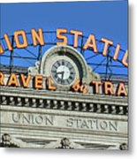 Union Station Sign Metal Print