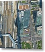 Union Station Train Yard Toronto From The Cn Tower Metal Print