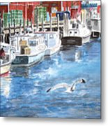 Union Wharf Metal Print