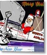 Unique Greets Original Holiday Greeting Card  Metal Print