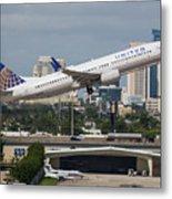 United Airlines Metal Print