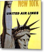 United Airlines  Metal Print