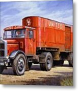 United Dairies Scammell. Metal Print by Mike  Jeffries