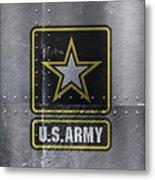 United States Army Logo On Steel Metal Print