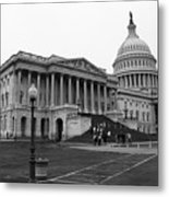 United States Capitol Building 2 Bw Metal Print